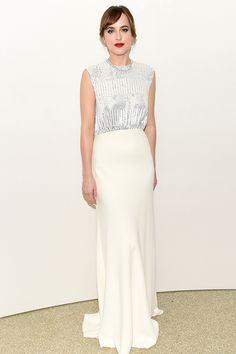 Dakota Johnon attends Guggenheim International Gala Dinner, hosted by Dior, in New York City on November 5, 2015