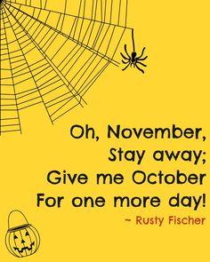 No November... A Halloween poem
