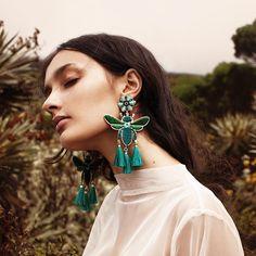 Resort Must-Have: Mercedes Salazar Tiny Stud Earrings, Simple Earrings, Beaded Earrings, Drop Earrings, Jewellery Earrings, Gothic Jewelry, Boho Jewelry, Handmade Jewellery, Tourmaline Earrings