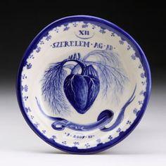 Andrea Dezsö, Sketchbook Plates series, cast vitreous china, cobalt stain, 2009.