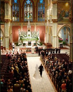 Incredible Cathedral and Ceremony, Garden on the Square #wedding #southernwedding