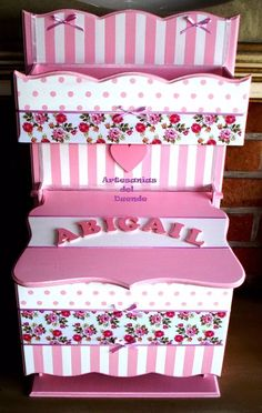 caja porta pañales para tu bebé o  baby shower