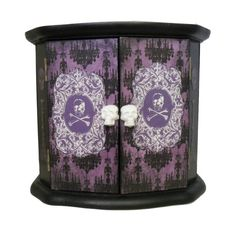 Gothic Home Decor - Haunted Mansion themed Small Cabinet  by NacreousAlchemy