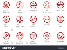 Properties Fabrics Garments Symbols Thine Line Stock Vector (Royalty Free) 391341664 Icon Design, Logo Design, Graphic Design, Sport Icon, Symbol Logo, Fabric Textures, Pictogram, Line Icon, Hang Tags