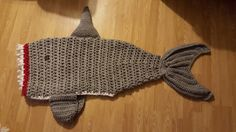 Shark Attack Lapghan - quick and bulky shark blanket