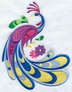 Swirling Peacock