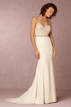 One of my favorite off the shelf options - BHLDN Irene Gown in  Bride Wedding Dresses at BHLDN