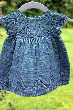 Baby Dress Crochet Free Pattern Ravelry Ideas For 2019 Knitting For Kids, Baby Knitting Patterns, Crochet For Kids, Baby Patterns, Free Knitting, Knitting Projects, Crochet Baby, Knit Crochet