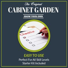 The Easy To Use Cabinet Garden™ is Perfect for all skill levels. Starter kit included. #hydroponic Home Growing Solution. #hydroponics #aeroponics #superponics #homegrow #homegrown #urbanfarmer #urbanfarm #urbanfarming #diy #doityourself #farmtotable #growyourown #growyourownfood #organic #eatwhatyougrow #vegetables #herbs #fruit #germination #plants #instagardenlovers #instagarden #grow #hydro #growbox #growroom #growcabinet #growcloset #CabinetGarden