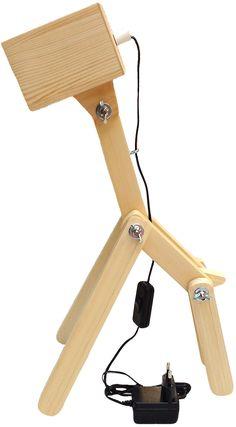 "LIGHTING - GIRAFFE WOOD LAMP ""TOTINA"" #LampDys Wooden Desk Lamp, Wood Lamps, Diy Light Fixtures, Light Fittings, Lamp Inspiration, Small Wood Projects, Woodworking Wood, Lamp Design, Wood Wood"