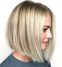 Low Maintenance Blonde Bob Bob Haircut For Fine Hair, Haircuts For Thin Fine Hair, Layered Bob Haircuts, Choppy Bob Hairstyles, Hairstyle Short, School Hairstyles, Formal Hairstyles, Wedding Hairstyles, Hairstyles Haircuts