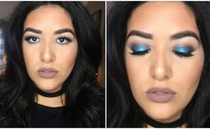 """Tory Price on Instagram: """"This look will be up on my channel tonight! I've never really worn a bright blue eyeshadow before, but I'm kinda loving it! MAKEUP DETAILS: Eyes: @colourpopcosmetics """"too shy"""" @anastasiabeverlyhills master palette by Mario in Isabel & Claudia @kokolashes in Queen B @anastasiabeverlyhills brow powder duo Lips: @kyliecosmetics @kyliejenner lip kit in """"moon"""" Glow: @anastasiabeverlyhills illuminator in So Hollywood 💕💕💕💕💕"""""""