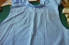 PettiBear's Fashion Roar: Refashion #II -Men's shirt to Women's Peplum Blouse