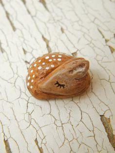 Little Fawn bead  Sleepy Woodland Critters by TreeWingsStudio, $8.00