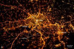 Une spectaculaire photo de Liège prise par la Nasa
