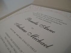 Lace Wedding Invitation - Paper goods by Le Petit Papier - www.lepetitpapierbymonica.com
