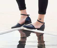 Black Leather Shoes Womens shoes Leather Shoes Women Black Shoes Flats Leather shoes Leather Flats Black flats (189.00 USD) by KatzAndBirds