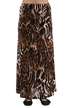 247 Comfort Apparel Womens Chocolate PolkaDot Printed Maxi Skirt 528BRW1XL *** Find out more about the great product at the image link.