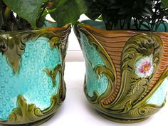 1890 Majolica Onnaing Antique French by myfrenchycottage on Etsy