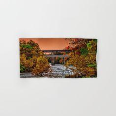 Autumn River Crossing Hand & Bath Towel