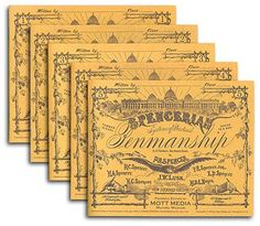 Spencerian Copybooks 1-5, Set, without Theory Book (Spencerian Penmanship) by P. R. Spencer