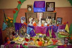 altars for day of the dead | Day Of The Dead Altar Mexico Photograph - Day Of The Dead Altar Mexico ...