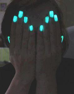 Neon glow in the dark nails