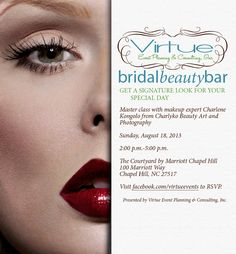 Join Us at our next Bridal Beauty Bar - August 18th. Register Today, Seating is Limited!
