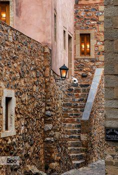 castle by beautiful castle cat greece light monemvasia stone travel Montenegro, Beautiful Castles, Beautiful Places, Monemvasia Greece, Corinth Canal, Greek Beauty, Greece Islands, In Ancient Times, Animals Of The World