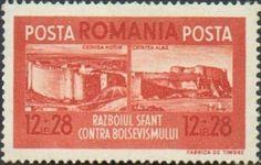Sello: Castle ruins of Hotin & Cetatea Alba (Rumanía) (Brotherhood of arms) Mi:RO 707,Yt:RO 658,Rom:RO 146b