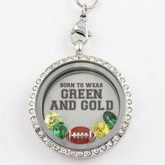 Born To Wear Green and Gold - Green Bay Football Locket