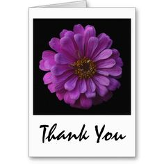 Purple Petaled Thank You Greeting Card available at www.zazzle.com/stevebrownleeart