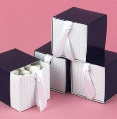 Navy Sliding Favor Boxes Set of 20 party favors by eugenecards