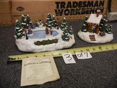 Thomas Kinkade 2018 Christmas Figure Teleflora Mint Condition Never Displayed