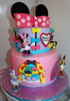 Birthday Cakes - Minnie Bow-Tique birthday cake.