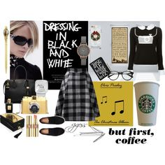 """""""but first, coffee"""" by ggoss on Polyvore"""