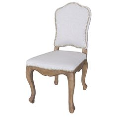 "Rosalie Dining Chair  20%linen/30%polyester  20"" W x 25"" D x 40"" H  Finish/Color(s): Bespoke Natural, Gibson Seal"
