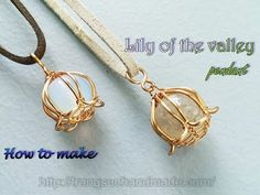 (28) Lily of the valley pendant with large spherical stones without holes 398 - YouTube