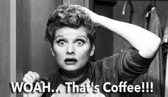 2 things that remind me of my Grandma... Lucy and coffee.