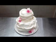 How To Make A Beautiful Ruffle Cake - Pastel Con Volantes - YouTube