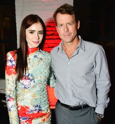 Greg Kinnear and Lily-Collins -Writers