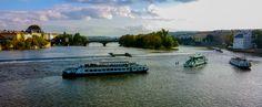 lago, rio, bote, ferry, puente, agua, lake, river, boat, ferry, bridge, water