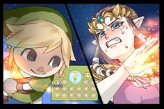 Is that a Link villager... against Princess Zelda!??! O.O