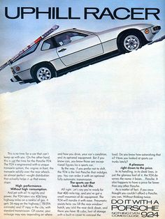 1978 Porche 924 Advertisement Car And Driver May 1978