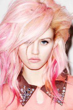 sick pink hair