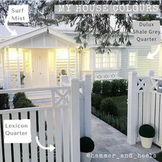 The front fence. Exterior {SATURDAY HOUSE LOVE} The stunning home of . A beautiful home with the details and the extraordinary workmanship and talent of their builders :camera: Front Fence, House, House Front, House Exterior, Hamptons House, Beautiful Homes, Front Yard, Farmhouse Style, House Colors