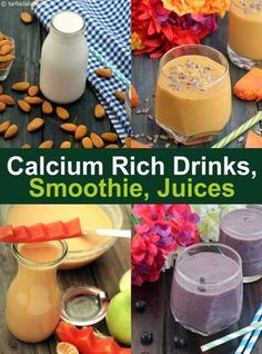 calcium deficiency natural home remedy, What are the signs and symptoms as well as the very best food to consume to respond to deficiency Smoothie Recipes With Yogurt, Oat Smoothie, Smoothies With Almond Milk, Smoothie Drinks, Diet Drinks, Cold Drinks, Calcium Rich Fruits, Vegan Calcium, Foods With Calcium