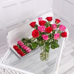Make any occasion special with our 12 red and pink letterbox roses! Add a message to the gift card to create a romantic gift for any occasion! Letterbox Gifts, Flower Food, Red And Pink, Red Roses, Create, Flowers, Prints, Cards, Florals