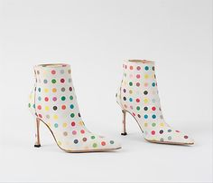 Damien Hirst Dot Boots, for Manolo Blahnik, cute!