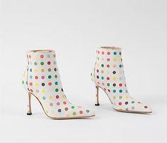 Damien Hirst, Dot Boots, for Manolo Blahnik